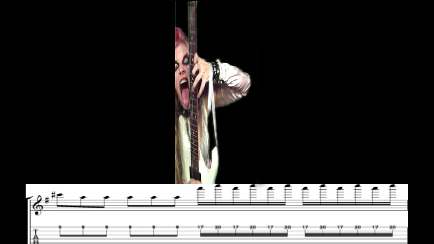 "THE GREAT KAT GUITAR SHREDDING/TABLATURE/MUSIC NOTATION PHOTOS from BACH'S ""BRANDENBURG CONCERTO #3"""
