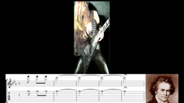 """THE GREAT KAT GUITAR SHREDDING/TABLATURE/MUSIC NOTATION PHOTOS from BEETHOVEN'S """"5th SYMPHONY"""""""