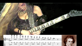 """BEETHOVEN'S """"5th SYMPHONY""""-GREAT KAT SHREDS BEETHOVEN with GUITAR TABLATURE & MUSIC NOTATION!"""