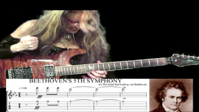 "BEETHOVEN'S ""5th SYMPHONY""-GREAT KAT SHREDS BEETHOVEN with GUITAR TABLATURE & NOTATION!"