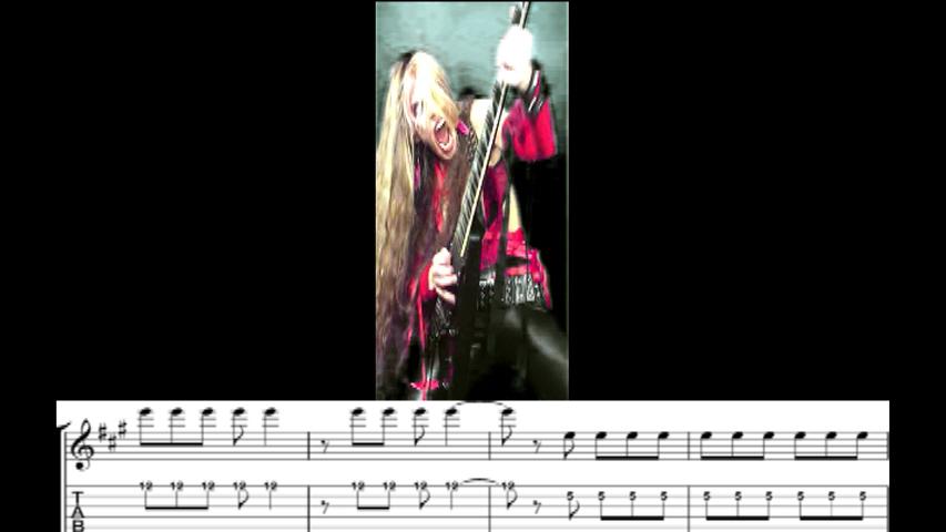 "THE GREAT KAT GUITAR SHREDDING/TABLATURE/MUSIC NOTATION PHOTOS from SARASATE'S ""ZAPATEADO"""