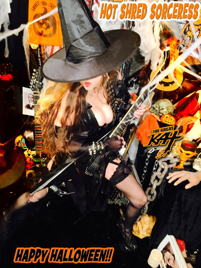 HAPPY HALLOWEEN! From The HOT SHRED SORCERESS!