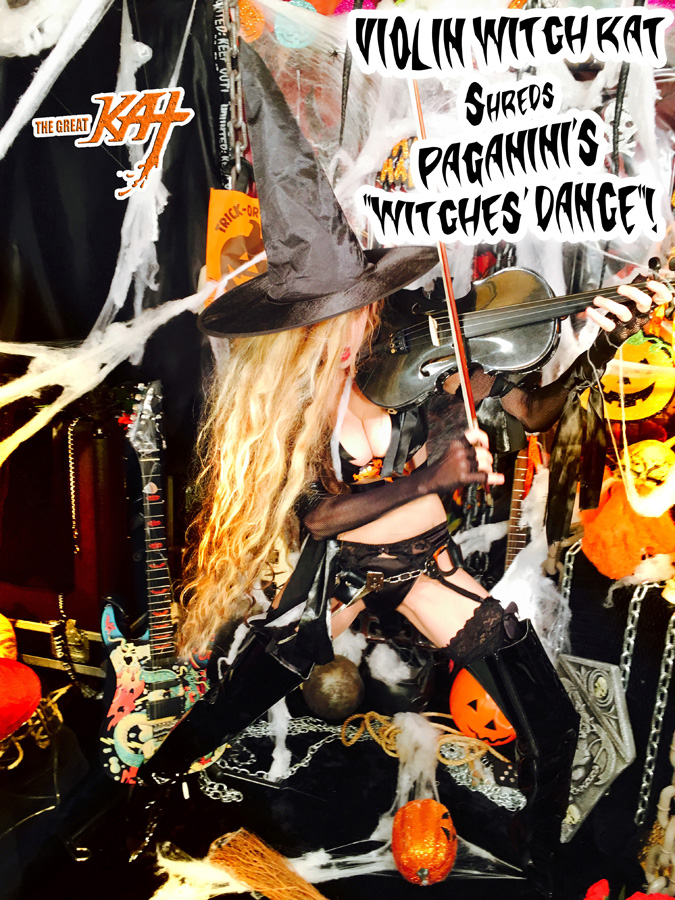 """VIOLIN WITCH KAT Shreds PAGANINI'S """"WITCHES' DANCE""""!"""