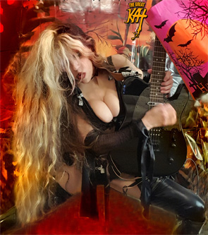 "Great News from The Great Kat for 2016! Coming Soon! Great Kat SIGNATURE SHRED GUITAR FROM COOK CUSTOM GUITAR! ""Coming summer 2016, The Great Kat (Katherine Thomas), signature series shredder. Details to come."" - James Cook, Cook Custom Guitar"