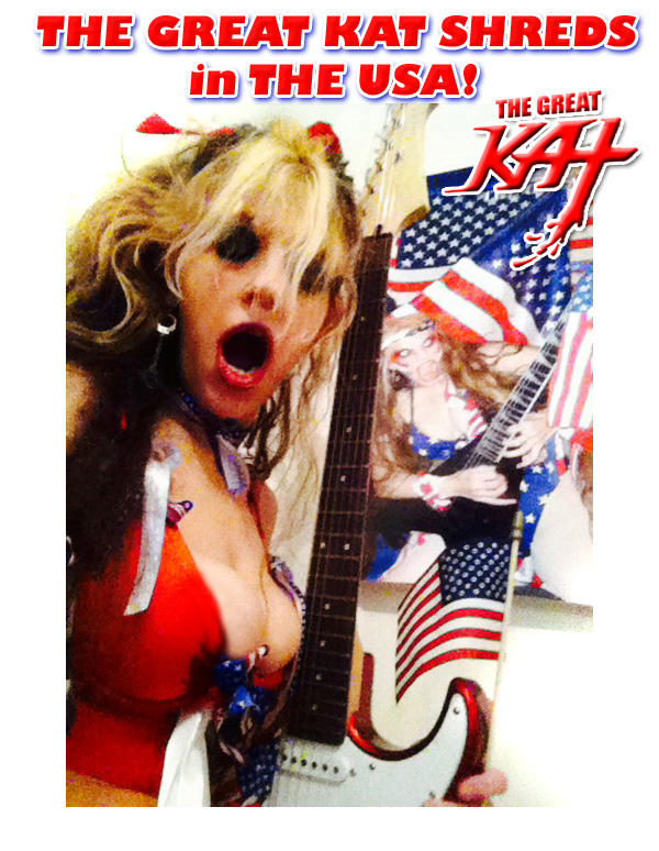THE GREAT KAT SHREDS in THE USA!