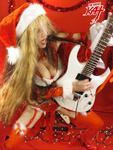 HOT SHRED SANTA GREAT KAT!! HAPPY HOLIDAYS!