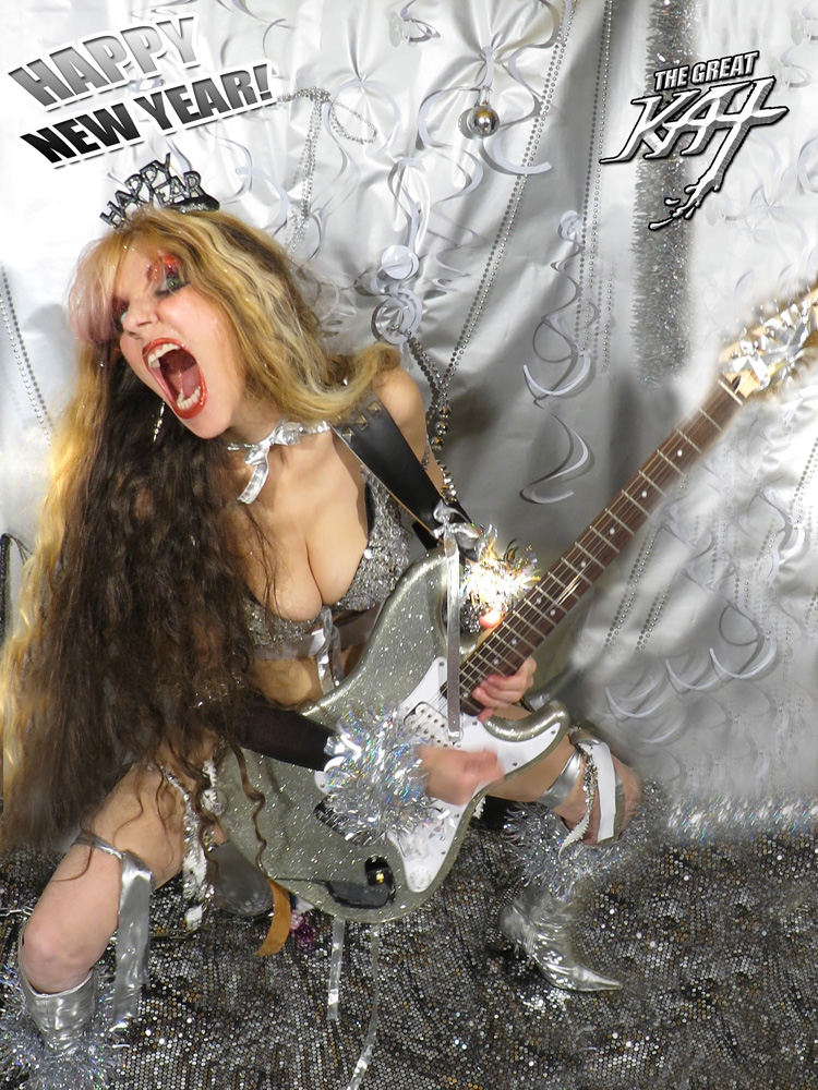 HAPPY NEW YEAR! From The Great Kat Guitar Goddess!