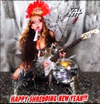 HAPPY SHREDDING NEW YEAR! FROM THE GREAT KAT GUITAR GODDESS!
