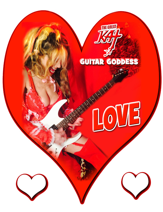 LOVE! From The Great Kat Guitar Goddess