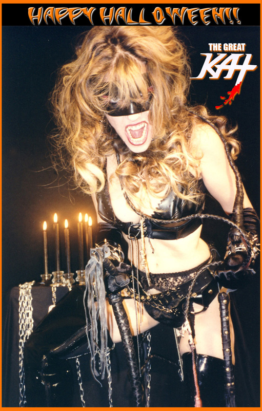 HAPPY HALLOWEEN FROM THE GREAT KAT GUITAR GODDESS!! NOW BOW, PEASANT!