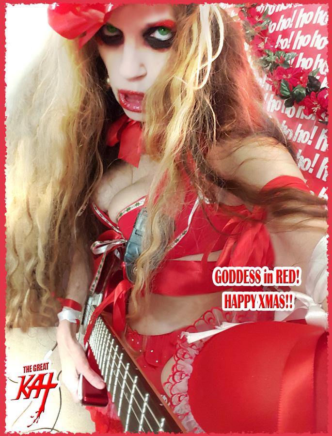 GODDESS in RED! HAPPY XMAS!!