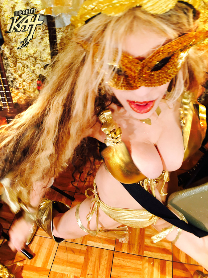 GOLDEN GUITAR GODDESS GREAT KAT!