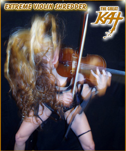 "SIRIUS XM RADIO FEATURES THE GREAT KAT'S ""ZAPATEADO"" on Sirius XM's ""Bloody Roots: A Metal Lesson in Violins""! ""Prepare for a lesson in metal violins you won�t soon forget. Hectic arpeggios of violin shredder The Great Kat. The Great Kat-'Zapateado' from WAGNER�S WAR"". ""Female shredder named The Great Kat, who actually began life as a Juilliard Music School violin prodigy and then discovered heavy metal guitar. Something by her returning to brutal violin."" - Ian Christe, SiriusXM Liquid Metal. ""'Zapateado' from WAGNER�S WAR"" - LISTEN NOW"