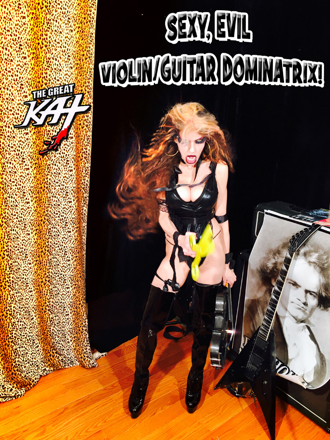 SEXY, EVIL VIOLIN/GUITAR DOMINATRIX!