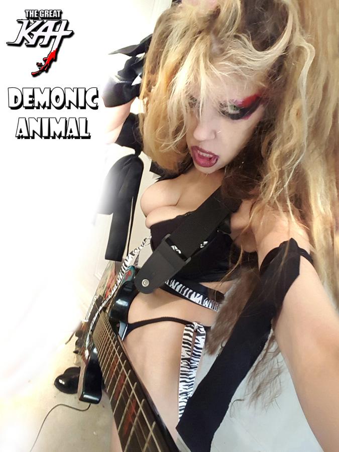 DEMONIC ANIMAL! HOT ANIMALISTIC KAT in NYC!