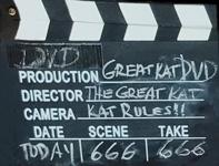 GREAT KAT DVD MOVIE CLAPBOARD!