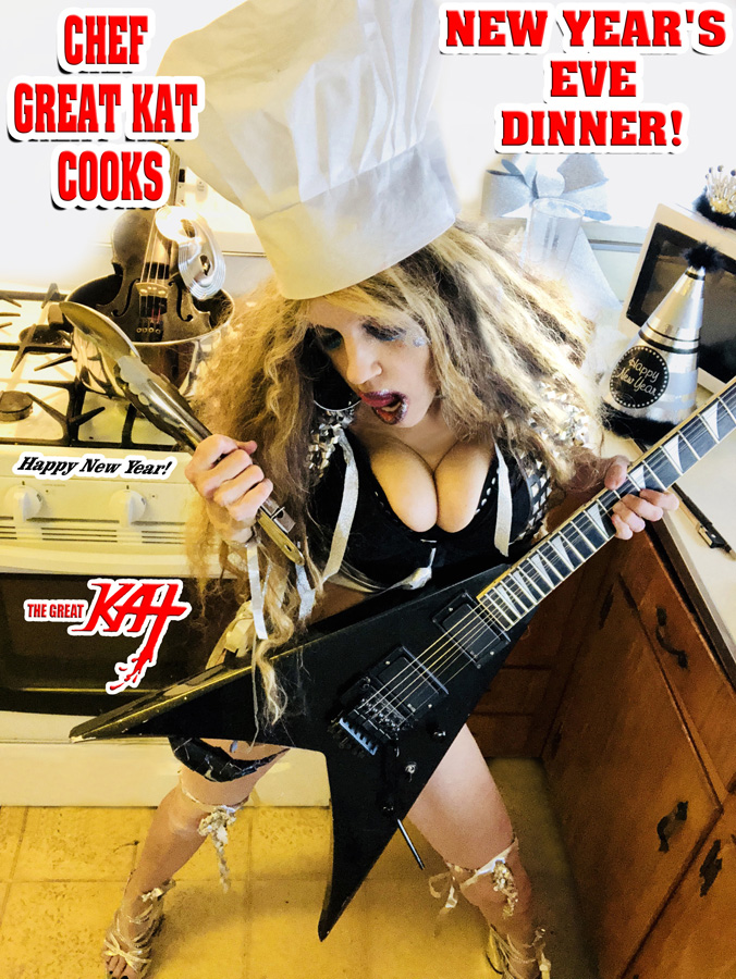 CHEF GREAT KAT COOKS NEW YEAR'S EVE DINNER!