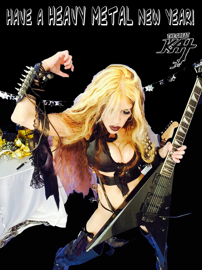"""HAVE A HEAVY METAL NEW YEAR! from """"HAPPY NEW YEAR"""" HOLIDAY KAT PHOTOS!"""