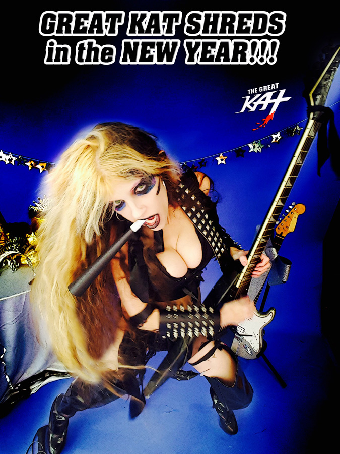 """GREAT KAT SHREDS in the NEW YEAR!!! from """"HAPPY NEW YEAR"""" HOLIDAY KAT PHOTOS!"""