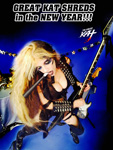 "GREAT KAT SHREDS in the NEW YEAR!!! from ""HAPPY NEW YEAR"" HOLIDAY KAT PHOTOS!"