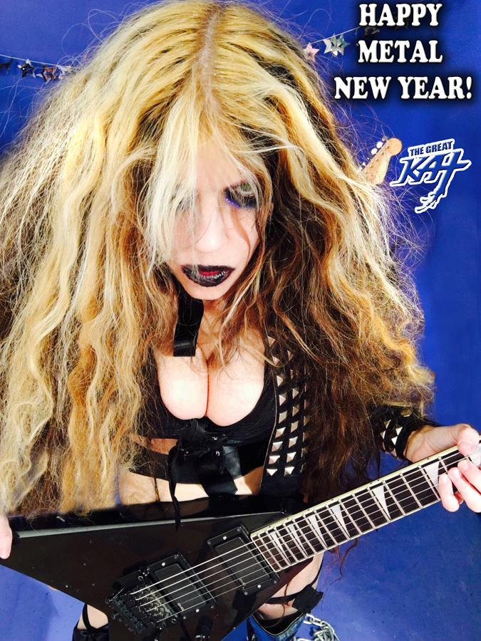 """HAPPY METAL NEW YEAR! from """"HAPPY NEW YEAR"""" HOLIDAY KAT PHOTOS!"""