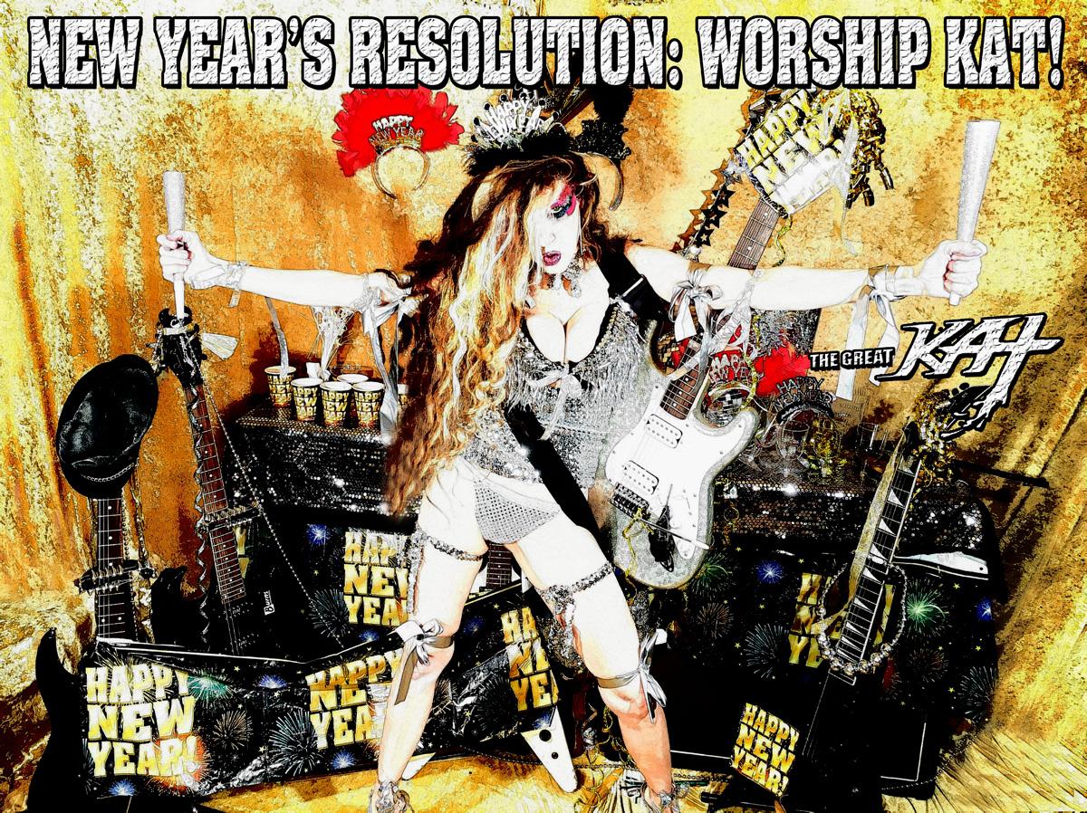 NEW YEAR'S RESOLUTION: WORSHIP KAT! CARTOON!