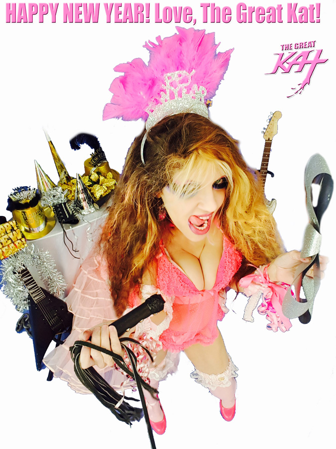 """HAPPY NEW YEAR! Love, The Great Kat! from """"HAPPY NEW YEAR"""" HOLIDAY KAT PHOTOS!"""