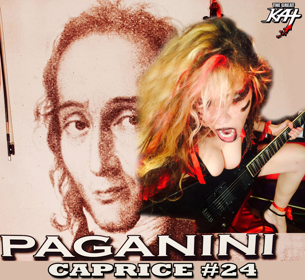 "THE GREAT KAT SHREDS ""PAGANINI CAPRICE #24""!"