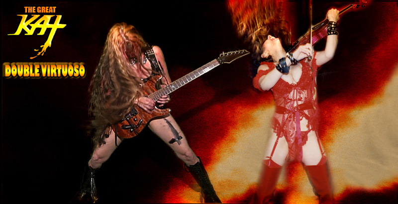 "THE GREAT KAT, REINCARNATION of BEETHOVEN, Shred Guitar Virtuoso, Musical Revolutionary, Inventor of ""Shred/Classical"" Music - Bringing Classical Music to the Masses and RESURRECTOR of CLASSICAL MUSIC!"