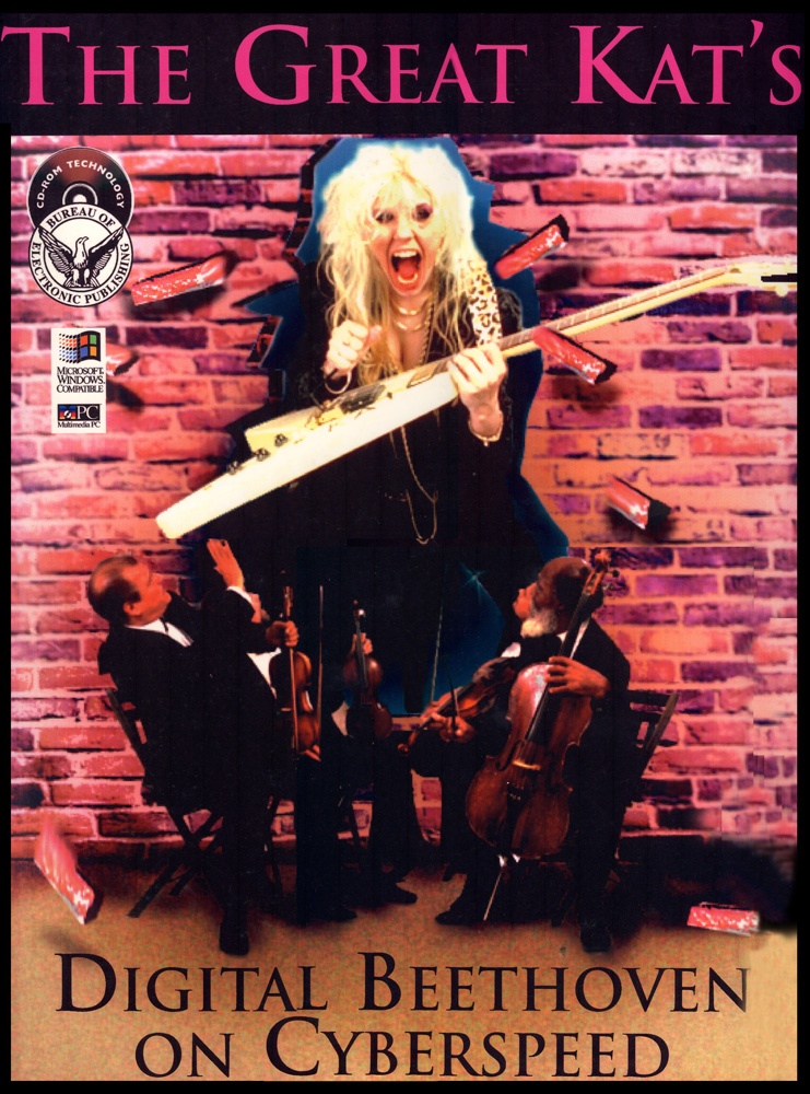 "The Great Kat's ""DIGITAL BEETHOVEN ON CYBERSPEED"" CD-ROM POSTER!"