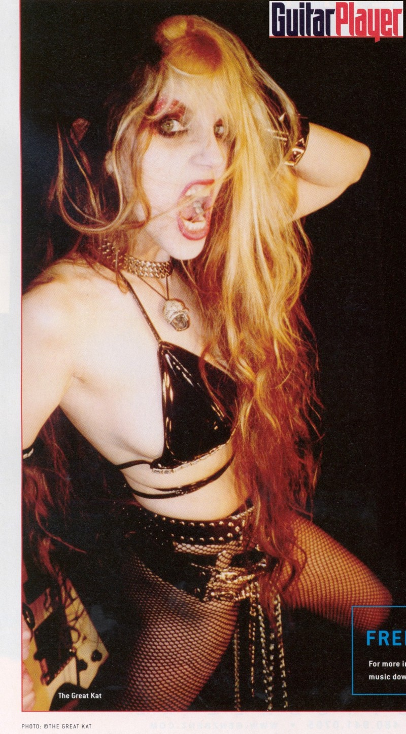 """The Great Kat in """"GUITAR PLAYER"""" Magazine!"""