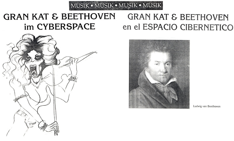 """THE GREAT KAT & BEETHOVEN IN INSEL MAGAZINE """"GRAN KAT & BEETHOVEN IM CYBERSPACE"""""""