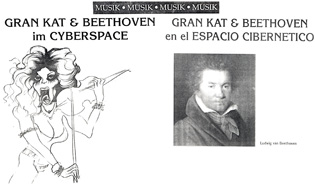 "THE GREAT KAT & BEETHOVEN IN INSEL MAGAZINE ""GRAN KAT & BEETHOVEN IM CYBERSPACE"""