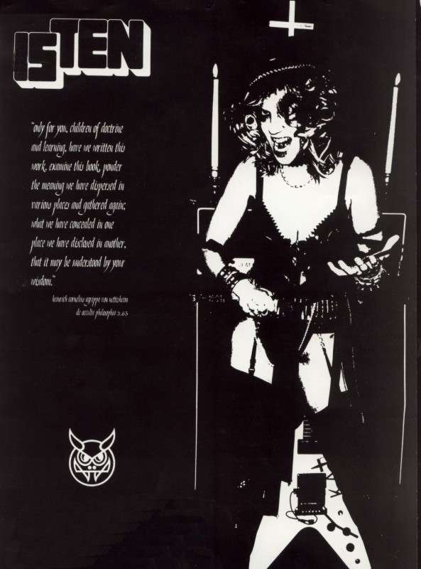 """The Great Kat Poster in """"ISTEN"""" Magazine"""