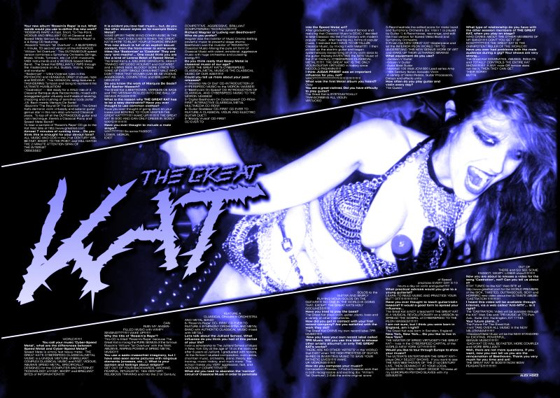 "The Great Kat Poster in ""BLACKLIGHT"" Magazine"