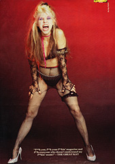 "KERRANG MAGAZINE'S FAMOUS INTERVIEW WITH THE GREAT KAT GUITAR GODDESS! ""F**k you, f**k your f**kin' magazine and f** everyone who doesn't understand my f**kin music!"" -THE GREAT KAT"