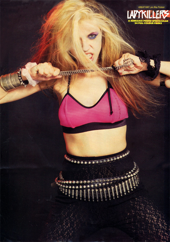 "KERRANG MAGAZINE'S FAMOUS ""LADYKILLERS - KERRANG/PHOTO SPECTACULAR"" STARRING THE GREAT KAT POSTER!"