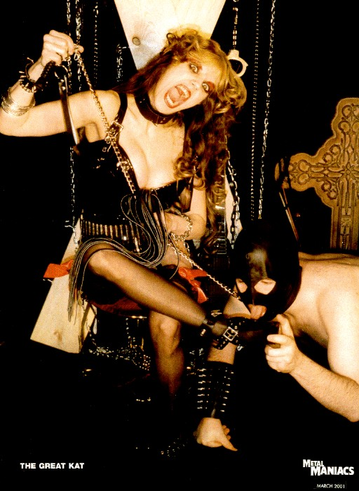 """The Great Kat Poster in """"METAL MANIACS"""" Magazine"""