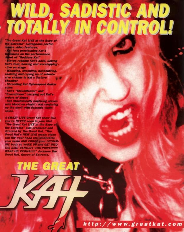 "The Great Kat Poster in ""MODERN GODDESS"" Magazine"