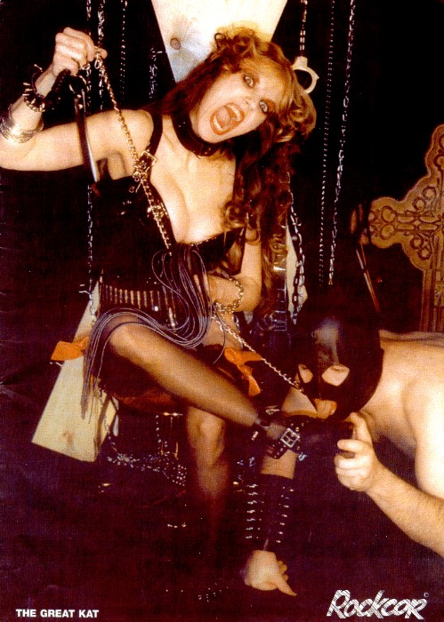 """The Great Kat Poster in """"ROCKCOR"""" Magazine"""