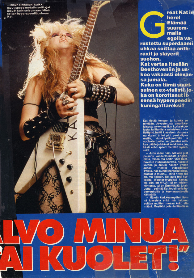 "SUOSIKKI MAGAZINE'S FAMOUS COVER STORY ON THE GREAT KAT ""GREAT KAT: Worship Me Or Die!"""