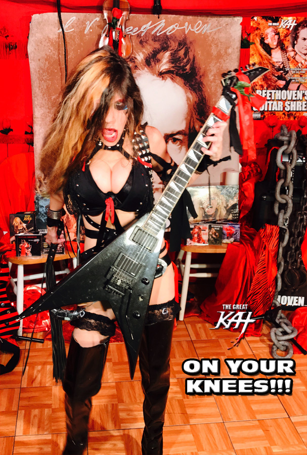 ON YOUR KNEES! FROM GREAT KAT INTERVIEW PHOTOS!