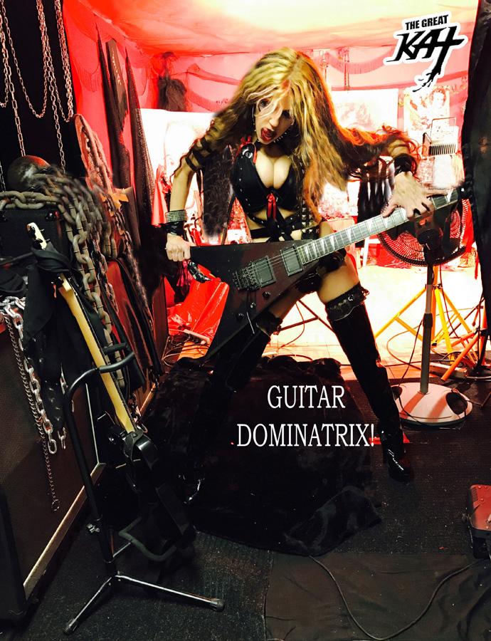 GUITAR DOMINATRIX! FROM GREAT KAT INTERVIEW PHOTOS!