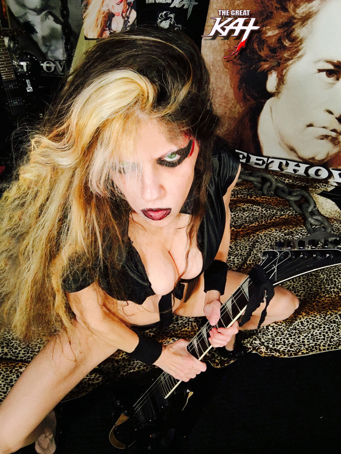 GODDESS READY to SHRED BEETHOVEN! from GREAT KAT HOT RADIO INTERVIEWS PHOTOS!