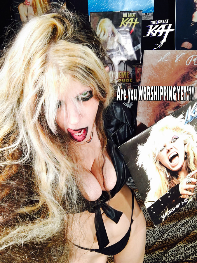 """""""Are you WORSHIPPING YET??!!"""" from GREAT KAT HOT RADIO INTERVIEWS PHOTOS!"""