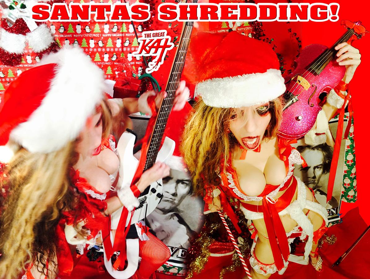 """SANTAS SHREDDING!! from """"SANTA BEETHOVEN"""" HOLIDAY KAT PHOTOS!"""
