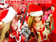 "VIOLIN SANTA SHREDDING!! from ""SANTA BEETHOVEN"" HOLIDAY KAT PHOTOS!"