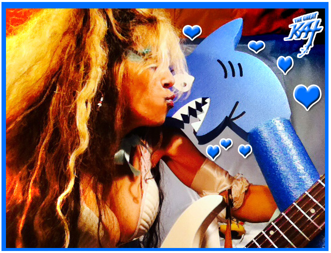THE GREAT WHITE SHARK LOVES THE GREAT KAT!!!