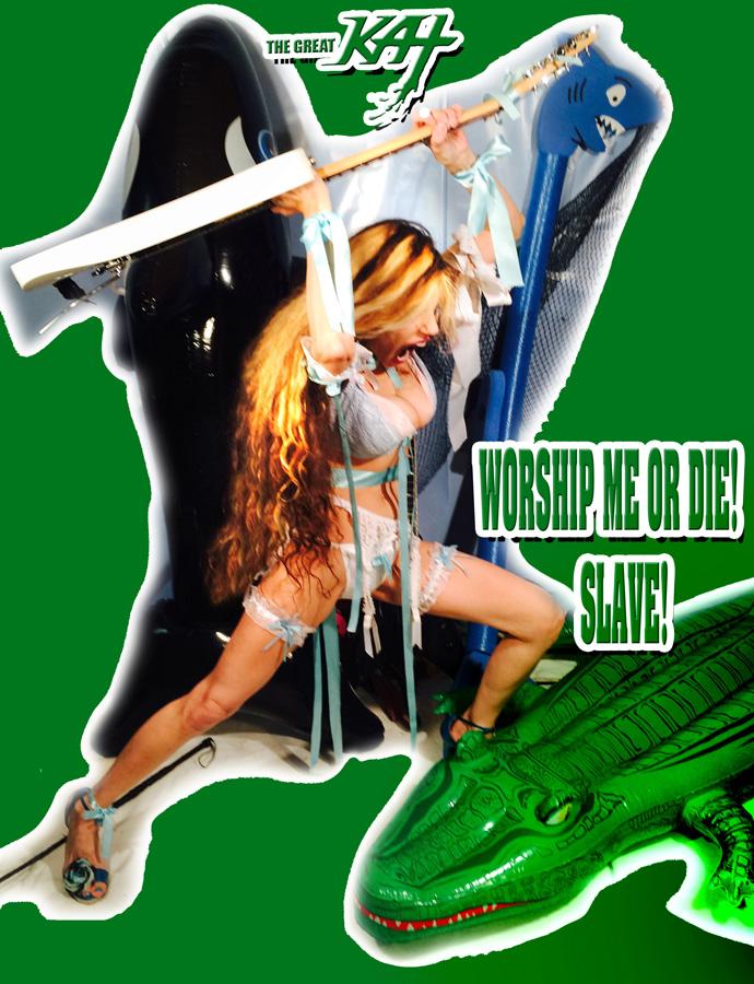 WORSHIP ME OR DIE! SLAVE!
