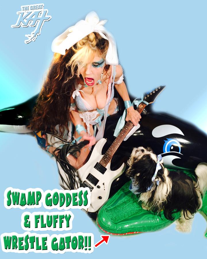 SWAMP GODDESS & FLUFFY WRESTLE GATOR!